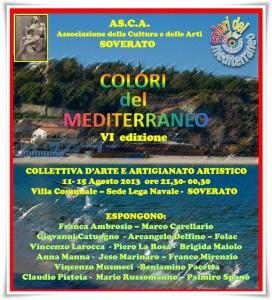 """Soverato – Selezionati gli artisti per la VI Edizione de i """"Colori del Mediterraneo"""""""