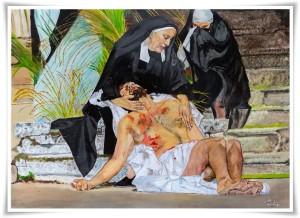 """Soverato – Dipinto di Carmelo Stratoti """"Il Dolore di una Mamma"""""""