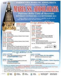 Soverato Superiore – Festeggiamenti in onore di Maria SS. Addolorata