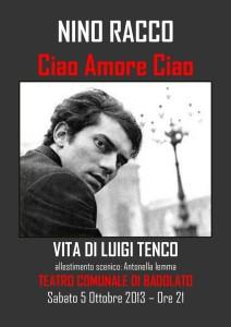 """Teatro di Badolato – Nino Racco canta e """"cunta"""" Luigi Tenco"""