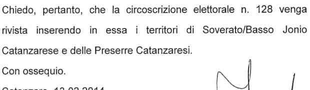 Circoscrizioni Elettorali - Il sindaco di Torre di Ruggiero scrive al Ministero degli Interni