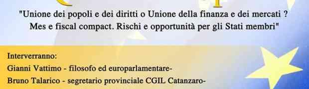 Catanzaro - Mercoledì 30 aprile incontro con Gianni Vattimo al Centro Polivalente