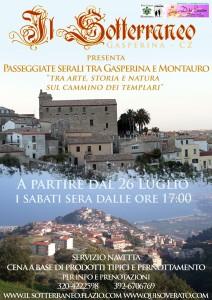 Passeggiate serali a Gasperina e Montauro tra arte, storia, natura sul cammino dei Templari