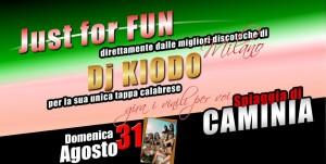 """""""Just for Fun"""", domenica 31 Agosto a Caminia si balla per tutta la notte!"""