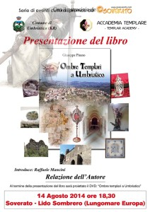 A Soverato Giovedì 14 Agosto si parla di Cavalieri Templari