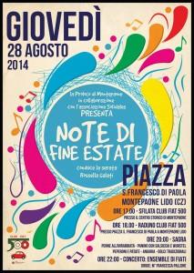 """Montepaone – Giovedì 28 Agosto """"Note di Fine Estate"""""""