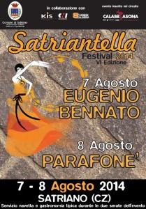 """Satriano – Il 7 e 8 Agosto """"Satriantella Festival 2014"""""""