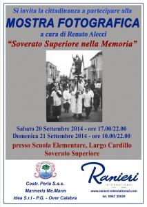 """Il 20 e 21 Settembre Mostra Fotografica """"Soverato Superiore nella Memoria"""""""