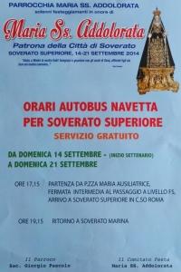 Soverato Superiore – Programmazione eventi Festa Maria SS Addolorata