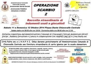 """Chiaravalle – """"Operazione scambio 2"""" Raccolta di indumenti e giocattoli usati"""