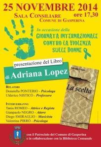 """Gasperina – Presentazione del libro di Adriana Lopez """"La scelta"""""""