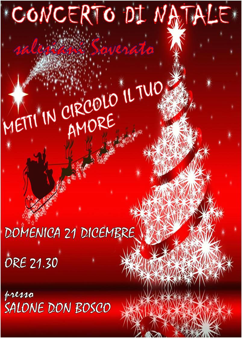 Soverato domenica 21 dicembre all oratorio il concerto for Ligabue metti in circolo il tuo amore