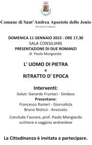 S. Andrea Jonio – Presentazione libri di Paolo Mongiardo