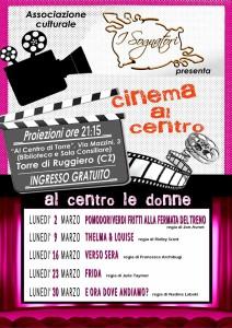 """Torre di Ruggiero – Rassegna cinematografica """"Al centro le donne"""""""