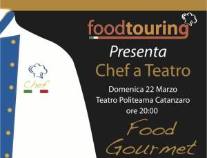 """Domenica 22 marzo al Politeama di Catanzaro """"Chef a Teatro"""""""