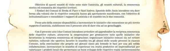 S. Andrea Jonio - Sabato 14 Marzo gemellaggio con il Comune di Breda di Piave