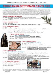 Celebrazioni per la Settimana Santa a Satriano