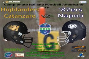 Football Americano: Gli Highlanders Catanzaro sfidano Napoli per confermarsi primi della classe