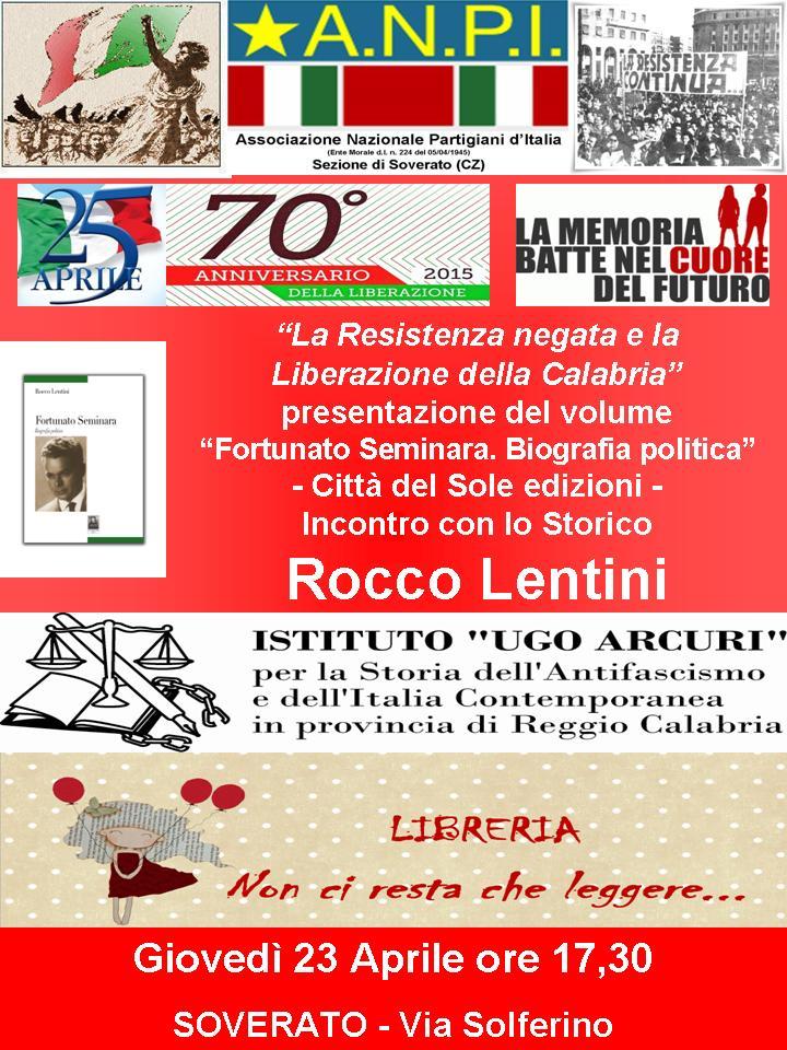 Locandina 23 Aprile  2015 Soverato Libreria