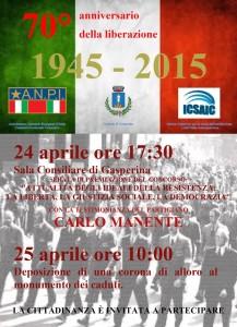 Gasperina – Celebrazione 70° anniversario della liberazione