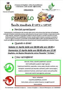 "Gagliato – ""Scartalo"" primo weekend ecologico con raccolta straordinaria di carta e cartone"
