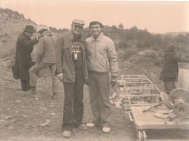 Thodoros Anghelopoulos e Maurizio Paparazzo sul set del film Omegalexandros