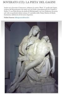 Soverato – La Pietà del Gagini sul Corriere della Sera (Italians)