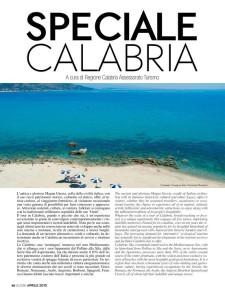 Foto di Soverato nella rivista di bordo dell'Alitalia