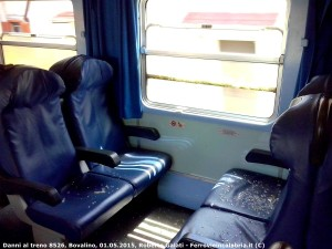 Lunga serie di atti vandalici sui treni calabresi