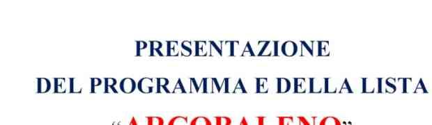 """S. Andrea Jonio - Domenica 10 Maggio presentazione della lista """"Arcobaleno"""""""