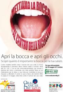 Catanzaro – Oral Cancer Day 2015 il 16 Maggio al Parco delle Biodiversità