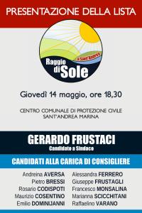 """Sant'Andrea Jonio – Oggi la presentazione della lista """"Raggio di Sole"""""""