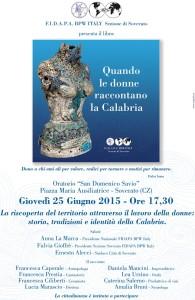 """Soverato – Presentazione libro """"Quando le donne raccontano la Calabria"""""""