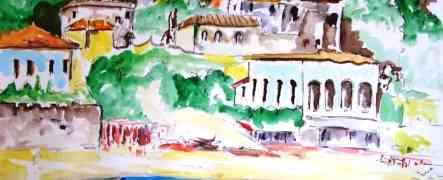 Opera del Maestro Soveratese Piero La Rosa pubblicata sul mensile Arte ( Mondadori)