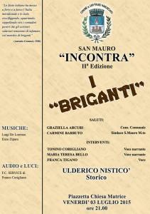 """San Mauro Marchesato (KR) – Venerdì 3 Luglio incontro I """"Briganti"""""""