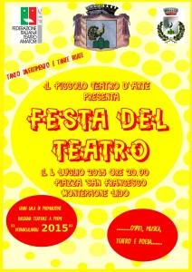 "Montepaone Lido – Stasera la ""Festa del Teatro"""