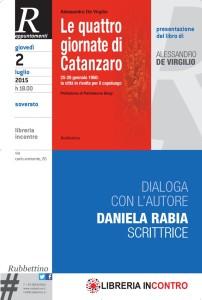 """Soverato – Presentazione libro """"Le quattro giornate di Catanzaro"""""""