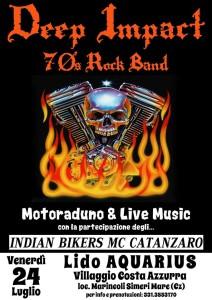 Simeri Mare: Deep Impact – Serata Rock 70's con Motoraduno