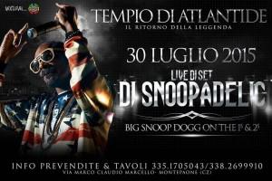 Montepaone – Giovedì 30 Luglio al Tempio di Atlantide live di Snoop Dogg!