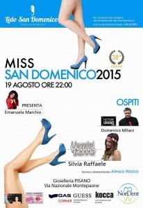 """Soverato – Mercoledì 19 agosto """"Miss San Domenico 2015"""""""