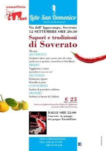 """Sabato 12 Settembre """"Sapori e tradizioni di Soverato"""" al Lido San Domenico"""