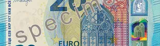 Mercoledì 25 novembre debutta la nuova banconota da 20 euro