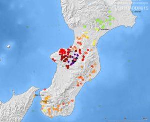 """Sequenza sismica in Calabria, da marzo 150 scosse. Invg """"Area a rischio molto alto"""""""