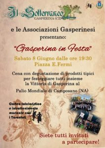 """Sabato 8 giugno """"Gasperina in Festa"""""""