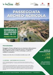 Domenica 23 giugno passeggiata archeo-agricola a Monasterace