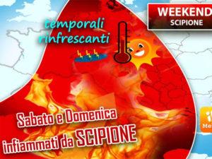 L'anticiclone tropicale Scipione infiamma l'Italia, caldo e afa per tutto il weekend