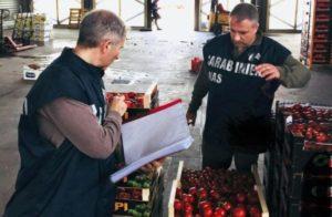 Quasi 2 tonnellate di frutta sequestrate dai Nas di Catanzaro in un mercato ortofrutticolo