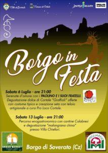 """La caratteristica piazzetta di Soverato Superiore """"u chianu"""" si anima con """"Borgo in festa"""""""