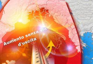 In arrivo nuova ondata di caldo tropicale,  temperature fino a 44 gradi!