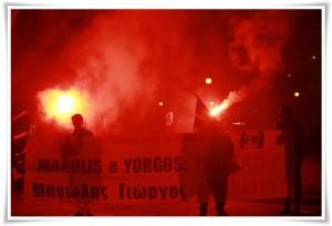 Crotone – Presidio FN per commemorare militanti di Alba Dorata